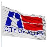 Allen City Flag sur le mât de drapeau, Etats-Unis Photo stock