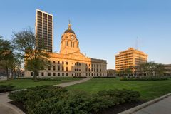 Allen County Courthouse in Fort Wayne. Allen County Courthouse at 715 South Calhoun Street in Fort Wayne, Indiana stock images