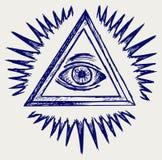 Allen die oog zien stock illustratie