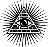 Allen die Oog zien - oog van voorzienigheid Stock Afbeelding