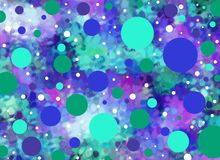 Allen gestippeld in blauw en aqua Stock Fotografie