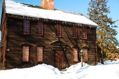 Allen House, Deerfield, MA. The historic Allen House in wintry Deerfield, Massachusetts Royalty Free Stock Photos