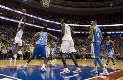 Allen Iverson. (3) of the 76ers puts up a shot in the first quarter of 12/7/2009 game at Philadelphia Stock Photography