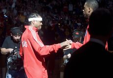 Allen Iverson. Is introduced before the start of 12/7/2009 game at Philadelphia Royalty Free Stock Photos