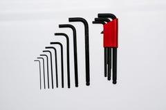 Allen key hand tools set. Stock Image