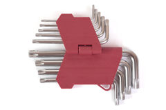 Allen key set Stock Photo