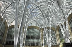 Brookfield Place Atrium from Toronto in Ontario Province Canada. Allen Lambert Galleria at Brookfield Place from Toronto in Ontario Province of Canada on 24th Royalty Free Stock Image