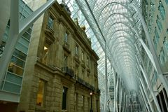 Allen Lambert Galleria in Brookfield Place, Toronto Stock Image
