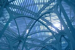 Allen Lambert Galleria in Toronto, Canada. Roof detail royalty free stock images