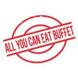 Allen u kunnen Buffet rubberzegel eten Royalty-vrije Stock Foto
