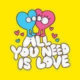 Allen u wenst is liefde stock illustratie