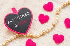 Allen u wenst is Liefde Het concept van de liefde Stock Afbeeldingen