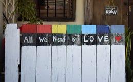 Allen wij wensen is liefde Stock Afbeeldingen