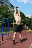 Allenamento atletico di estate Fotografie Stock