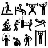 Allenamento atletico P di esercitazione del corpo della palestra di ginnastica dell'uomo illustrazione vettoriale