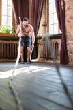 Allenamento con le corde a casa Fotografia Stock
