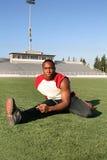 Allenamento del giocatore di football americano fotografie stock