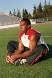 Allenamento del giocatore di football americano Fotografia Stock Libera da Diritti