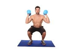 Allenamento dell'istruttore di forma fisica Immagine Stock