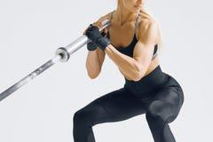 Allenamento della donna di forma fisica Fotografia Stock