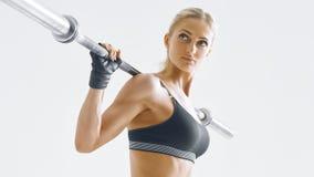 Allenamento della donna di forma fisica Fotografie Stock