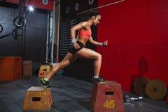 allenamento della Salto-scatola Fotografia Stock