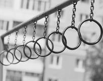 Allenamento della via del ghetto, anelli immagine stock