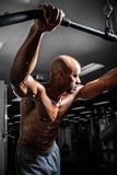 Allenamento di addestramento del peso Immagine Stock