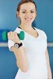 Allenamento di forma fisica della donna con i pesi Immagini Stock Libere da Diritti
