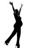 Allenamento di forma fisica della donna incinta felice Immagini Stock Libere da Diritti