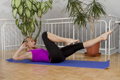 Allenamento 24 di forma fisica di Taebo Immagini Stock