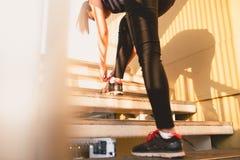 Allenamento di forma fisica e concetto sano di nutrizione Fotografie Stock