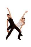 Allenamento di forma fisica. Ragazzo e ragazza che fanno insieme esercizio. Fotografia Stock Libera da Diritti
