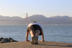 Allenamento di Golden Gate Fotografia Stock