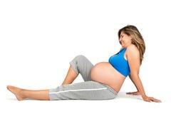 Allenamento di gravidanza Fotografia Stock