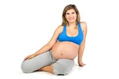 Allenamento di gravidanza Fotografia Stock Libera da Diritti