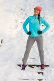 Allenamento di inverno di mattina Fotografie Stock