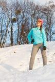 Allenamento di inverno di mattina Fotografia Stock Libera da Diritti