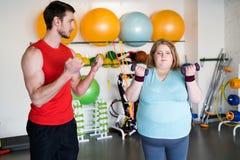 Allenamento di perdita di peso in palestra Fotografia Stock Libera da Diritti
