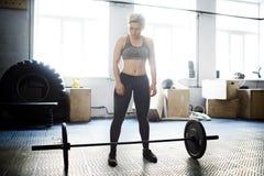 Allenamento di Weightlift Immagini Stock Libere da Diritti