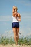 Allenamento femminile Fotografia Stock