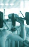 Allenamento femminile di forma fisica Fotografie Stock