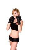 Allenamento femminile di MMA Fotografia Stock