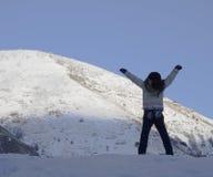 Allenamento in inverno Fotografie Stock