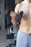 Allenamento maschio di forma fisica della palestra Immagini Stock