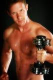 Allenamento maschio nudo Fotografia Stock