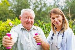Allenamento medico assistito Fotografie Stock