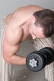 Allenamento muscolare del tirante Immagini Stock