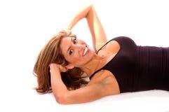 Allenamento sexy di esercitazioni Fotografie Stock