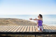 Allenamento sulla spiaggia Fotografie Stock Libere da Diritti